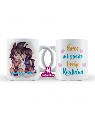 Mug Personalizado Para Pareja /Goku y...
