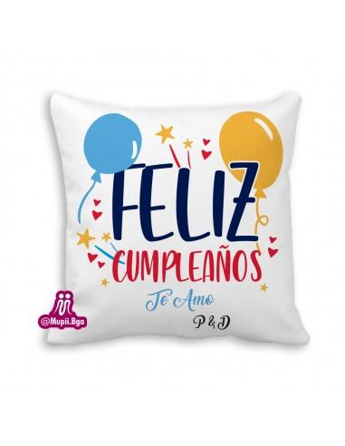 Cojín feliz cumpleaños personalizado
